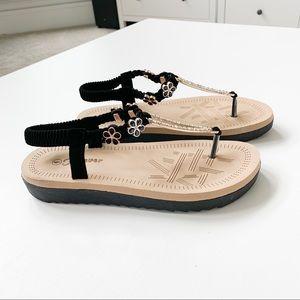 Forever Black Sandal
